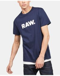 9f0d84fc5ee G-Star RAW Men's Xartic Graphic-print T-shirt in Blue for Men - Lyst