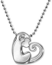 """Alex Woo - Little Activist Love Monkey Charm 16"""" Pendant Necklace In Sterling Silver - Lyst"""