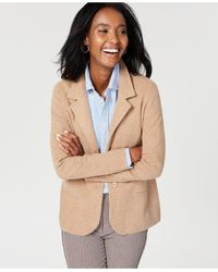 Charter Club Pure Cashmere Blazer, Regular & Petite Sizes, Created For Macy's - Natural