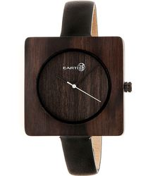 Earth Wood - Teton Leather-band Watch Brown 38mm - Lyst