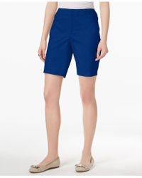 Charter Club Twill Shorts, Created For Macy's - Blue