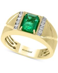Effy Collection - Men's Emerald (1-3/8 Ct. T.w.) And Diamond Accent Ring In 14k Gold - Lyst