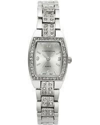 Charter Club Women's Silver-tone Crystal Bracelet Watch 28mm - Metallic