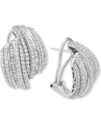 Wrapped in Love | Diamond Drop Earrings (2 Ct. T.w.) In Sterling Silver | Lyst