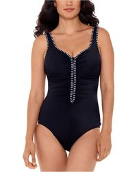 Reebok Our Zips Are Sealed Zipper One-piece Swimsuit - Black