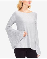 Vince Camuto | Metallic Bell-sleeve Sweater | Lyst