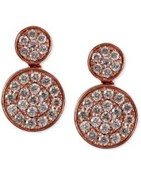 Effy Collection - Pave Rose By Effy Diamond Double Round Earrings (3/4 Ct. T.w.) In 14k Rose Gold - Lyst