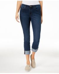 Maison Jules - Cuffed Jeans, Created For Macy's - Lyst