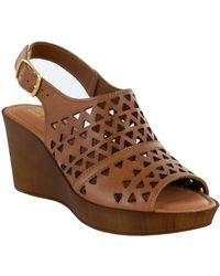Bella Vita Wedge Sandals - Brown