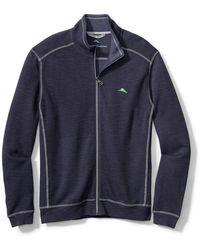 Tommy Bahama Tobago Bay Textured Full-zip Sweatshirt - Blue