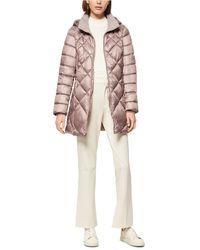 Marc New York - Diamond Quilt Hooded Puffer Coat - Lyst