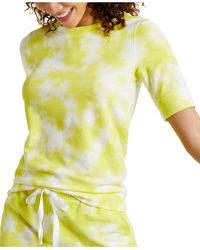 Style & Co. Lightweight Tie-dyed Sweatshirt, Created For Macy's - Yellow
