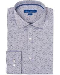 Vince Camuto - Slim-fit Comfort Stretch Dobby Pattern Dress Shirt - Lyst