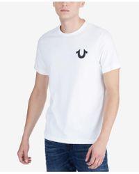 True Religion - Logo-print T-shirt - Lyst