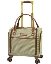 "London Fog Oxford Ii Softside 15"" Under-seater Bag Luggage - Green"