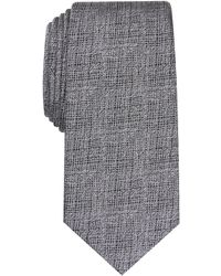 Alfani Solid Slim Tie, Created For Macy's - Metallic