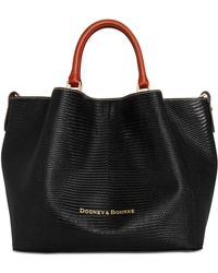 Dooney & Bourke - Lizard Embossed Leather Large Barlow Tote, Created For Macy's - Lyst