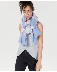 Charter Club - Oversized Striped Cashmere Scarf, Created For Macy's - Lyst