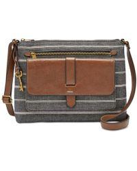 Fossil - Kinley Crossbody Handbag Chambray - Lyst