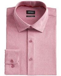 Buffalo David Bitton Slim-fit Performance Stretch Rose Chambray Dress Shirt - Pink