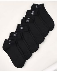 French Connection Super Soft Low Cut, 6 Pack - Black