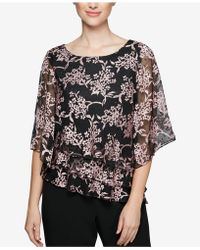 Alex Evenings - Textured Tiered Chiffon Blouse - Lyst