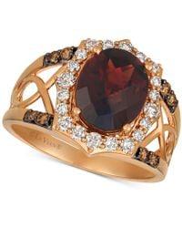 Le Vian - ® Rhodolite Garnet (3-1/5 Ct. T.w.) & Diamond (1/2 Ct. T.w.) Ring In 14k Rose Gold - Lyst