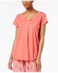 Hue - ® Solid Pleated Pyjama Top - Lyst