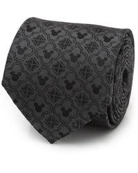 Disney Mickey Mouse Pattern Tie - Black