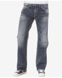 Silver Jeans Co. - Zac Relaxed Fit Straight Stretch Jeans - Lyst