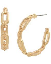 Robert Lee Morris Link Hoop Earrings - Metallic