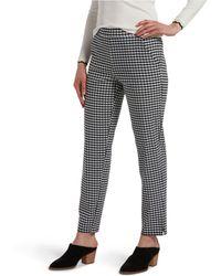 Hue ® Temp Tech Gingham-print Trouser Leggings - Black