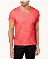 True Religion - Men's V-neck T-shirt - Lyst