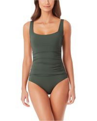 Anne Cole Square-neck One-piece Swimsuit - Green