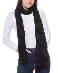 Style & Co. Solid Ribbed Muffler Scarf, Created For Macy's - Black