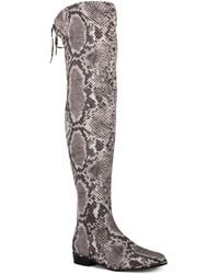 Marc Fisher Humour Over-the-knee Boots, Created For Macy's - Grey