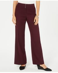 Style & Co. Stretch Wide-leg Pants, Created For Macy's - Red