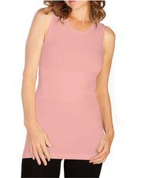 Skinnytees Plus High Neck Tank - Pink