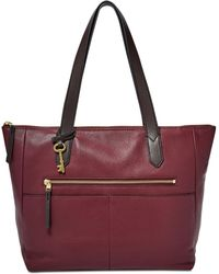 Fossil - Fiona Ew Medium Leather Tote - Lyst