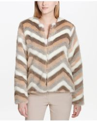 c6994d1836b8 Lyst - Women s Calvin Klein Fur jackets On Sale