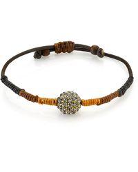 1928 T.r.u. By Adjustable Waxed Linen Wrapped Bracelet - Brown