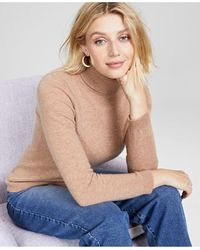 Charter Club Cashmere Turtleneck Sweater, In Regular And Petites, Created For Macys - Natural