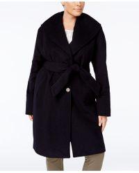 Jones New York - Plus Size Asymmetrical Belted Coat - Lyst