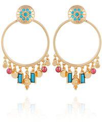 Nanette Lepore Front Facing Hoop Earring - Multicolour