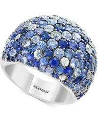 Effy Collection - Multicolor Sapphire Statement Ring (5-3/4 Ct. T.w.) In Sterling Silver - Lyst
