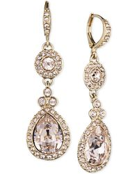 Givenchy - Gold-tone Crystal And Pavé Double Drop Earrings - Lyst