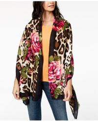 INC International Concepts - I.n.c. Floral Leopard-print Scarf & Wrap In One, Created For Macy's - Lyst