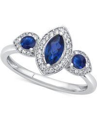 Macy's - Ruby (3/4 Ct. T.w.) & Diamond (1/6 Ct. T.w.) Ring In 14k Rose Gold - Lyst