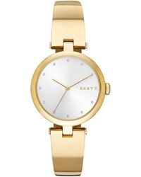 DKNY - Eastside Gold-tone Stainless Steel Bangle Bracelet Watch 34mm, Created For Macy's - Lyst