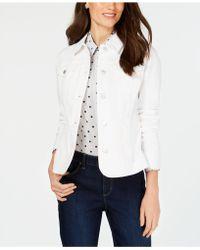 Charter Club Petite Denim Jacket, Created For Macy's - White